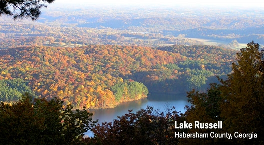 Scenic Lake Russell - Habersham County
