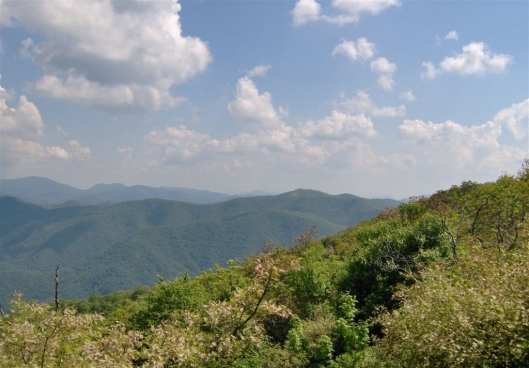 Hiking to Standing Indian Mountain from Deep Gap - Macon and Clay County line