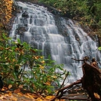 Spoonauger Falls in Sumter National Forest - Mountain Rest SC
