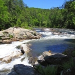Bull Sluice Rapids on the Chattooga River - Long Creek SC